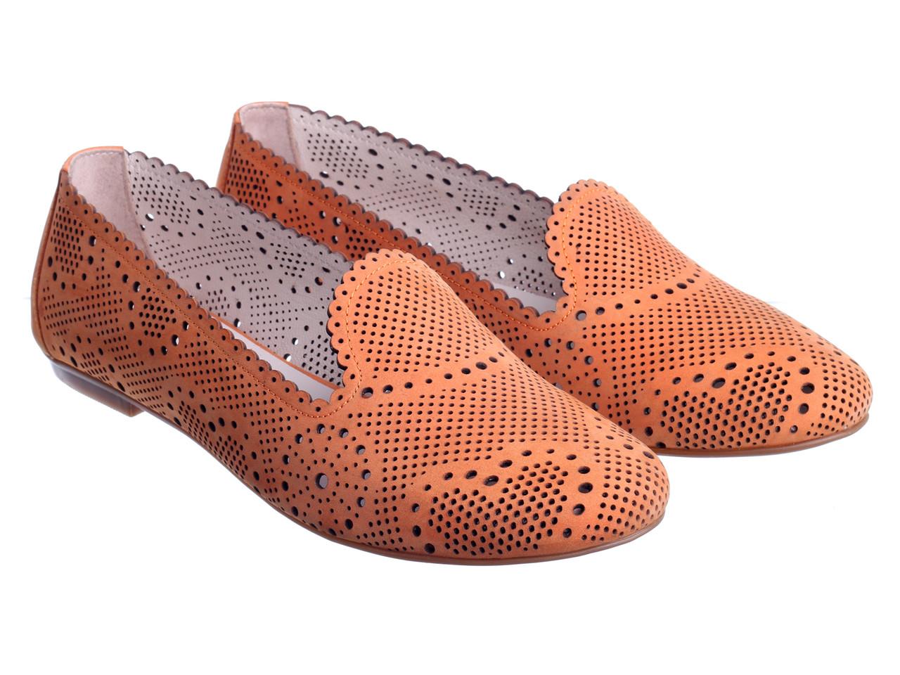 Балетки Etor 4524-897 помаранчевий