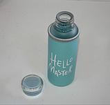 "Бутылка  ""Hello  Master"" (400 мл) стеклянная + термочехол, фото 3"