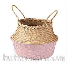 IKEA KRALLIG Корзина, морская трава, светло-розовый  (804.476.62)