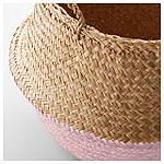IKEA KRALLIG Корзина, морская трава, светло-розовый  (804.476.62), фото 2