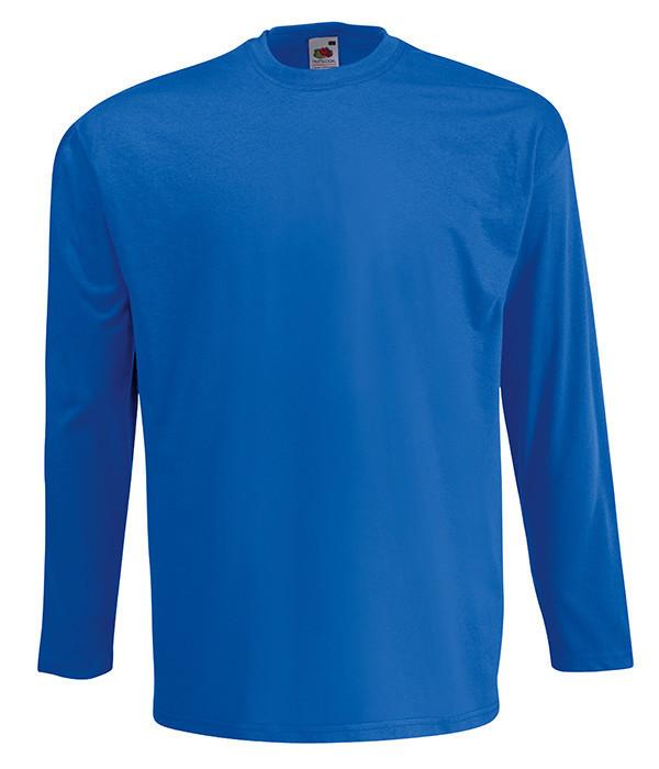 Мужская футболка с длинным рукавом S, 51 Ярко-Синий