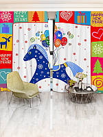 Фотошторы WallDeco Новогодние шторы (13570_1_ 3)