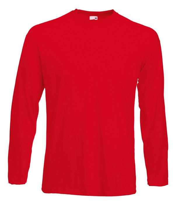 Мужская футболка с длинным рукавом L, 40 Красный