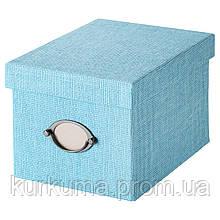 IKEA KVARNVIK Контейнер с крышкой, синий  (603.970.74)