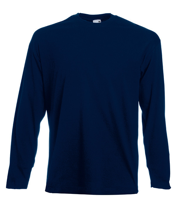 Мужская футболка с длинным рукавом 56,  AZ Глубокий Темно-Синий