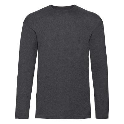 Мужская футболка с длинным рукавом 5XL, HD Темно-Серый Меланж