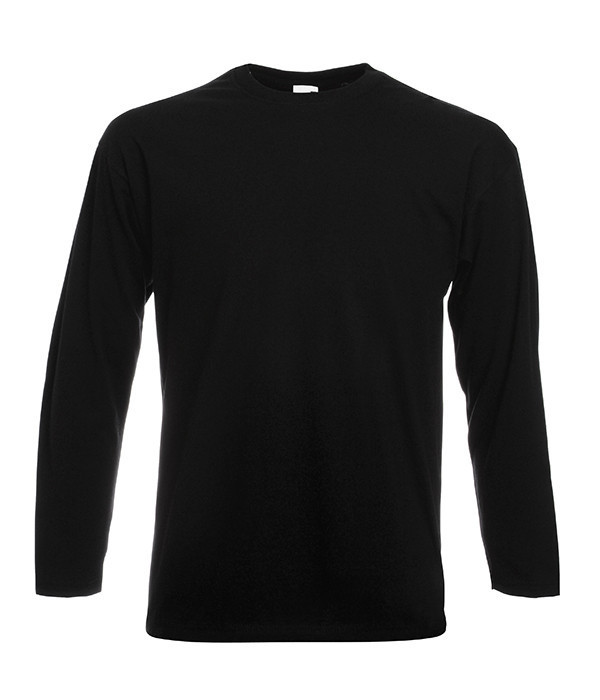 Мужская футболка с длинным рукавом 3XL, 36 Черный