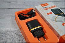 Зарядное устройство REDAX RDX-013 2,1А + 1 кабель (MicroUSB, Lighting, C-Type)