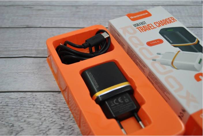 Зарядное устройство REDAX RDX-013 2,1А + 1 кабель (MicroUSB, Lighting, C-Type)  MicroUSB(Android), фото 2