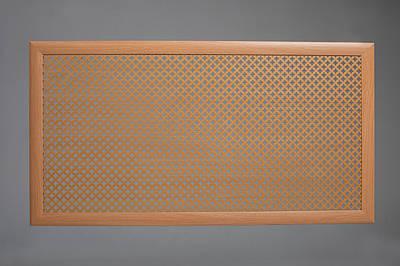 "Решетка на чугунную батарею, ""Стандарт"", 68 см х 68, цвет бук Роял"