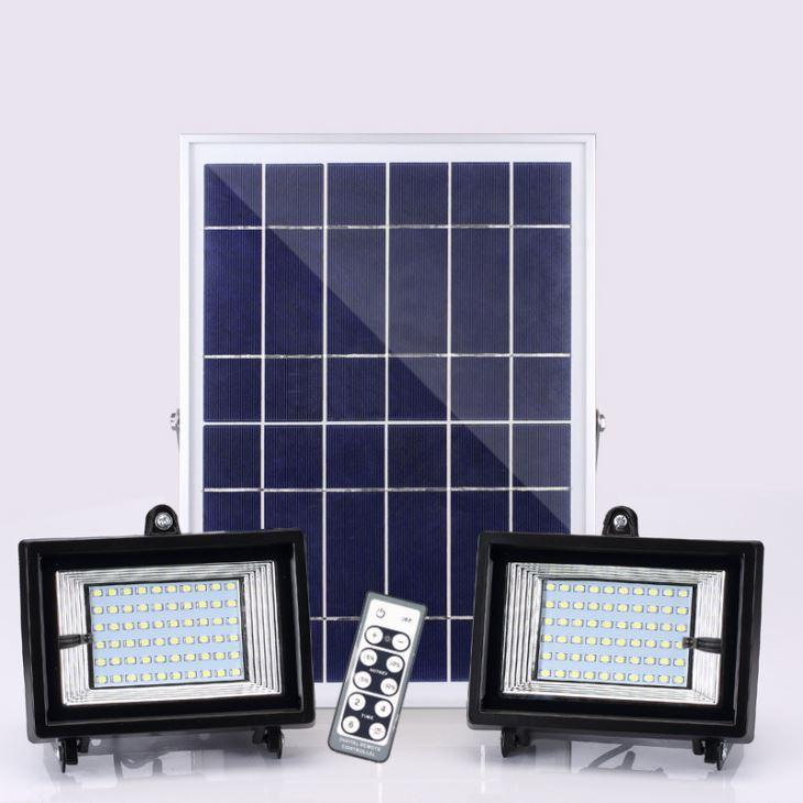 Светодиодные уличные прожектора на солнечной батарее SL383В 2х24W IP65 Код.59374