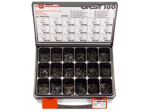 Набор стопорных колец для отверстий, ORSY100 DIN 472 Wurth