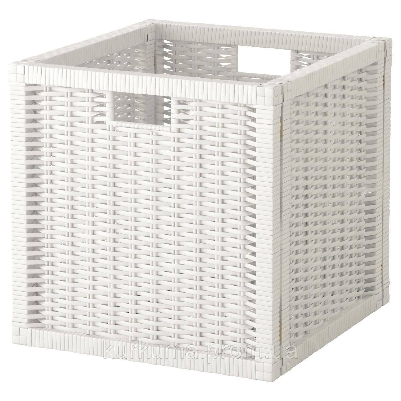 IKEA BRANAS Корзина, белый  (201.927.29)