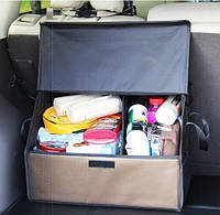 Складной Ящик-органайзер с крышкой в багажник автомобиля