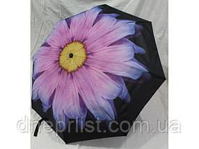 """Зонт полуавтомат в 3 сложения """"Цветок"""", антиветер / Mario Umbrella, фото 3"""