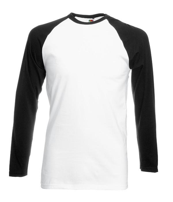 Мужская двухцветная футболка с длинными рук. XL, TH Белый / Черный