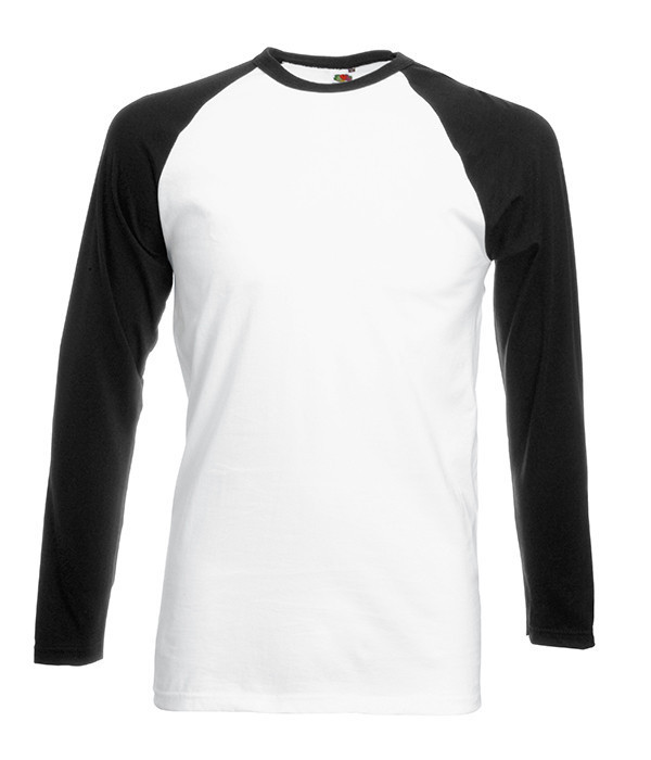 Мужская двухцветная футболка с длинными рук. 2XL, TH Белый / Черный
