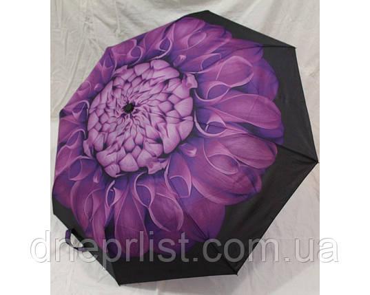 """Зонт полуавтомат в 3 сложения """"Цветок"""", антиветер / Mario Umbrella, фото 2"""
