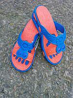 Жіночі шльопанці двоколірні з амортизаторами, фото 1