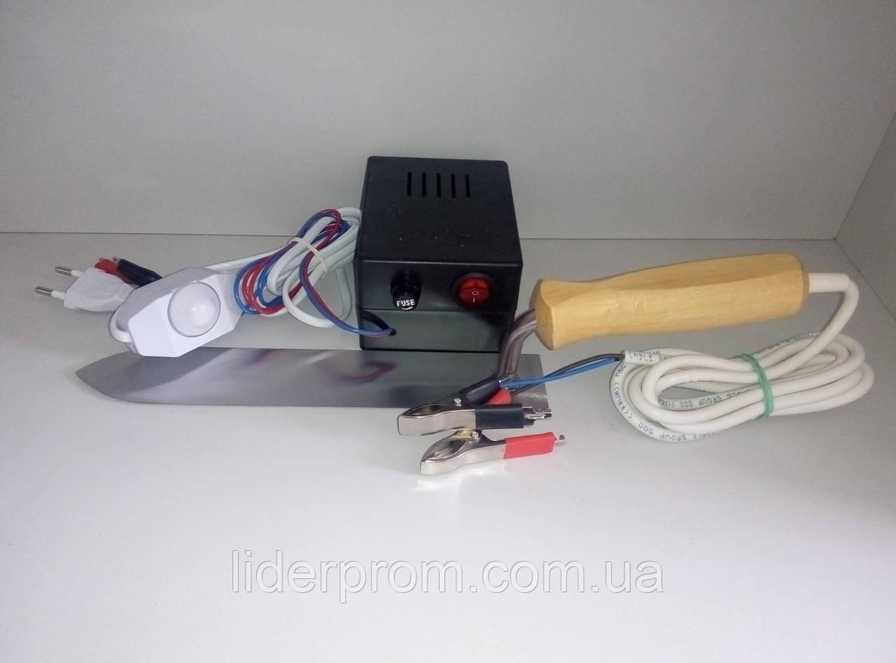 """Электронож   """"Гуслия"""" нержавеющая сталь в комплекте с блоком питания\Электронаващивателем."""