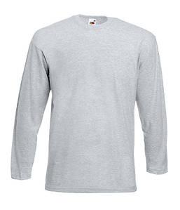 Мужская облегченная футболка с длинным рукавом 4XL, 94 Серо-Лиловый