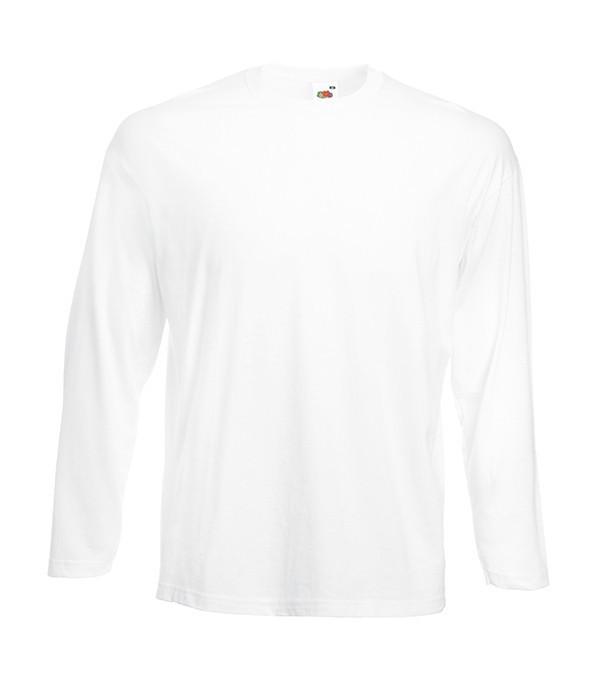 Мужская облегченная футболка с длинным рукавом L, 30 Белый