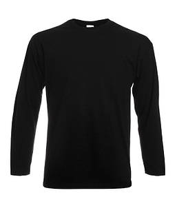Чоловіча полегшена футболка з довгим рукавом 4XL, 36 Чорний
