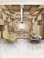 3D Фотошторы WallDeco Деревянный тоннель (20858_1_ 3)