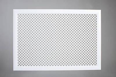 """Решетка на чугунную батарею """"Стандарт"""", 68 см х 98 см, цвет белый Роял"""