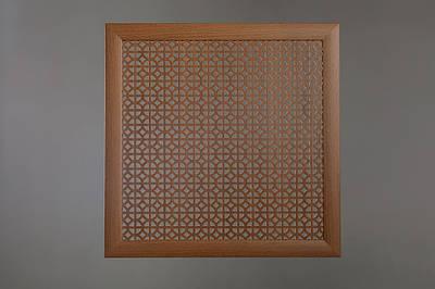 """Решетка на чугунную батарею """"Стандарт"""", 68 см х 68 см, цвет лесной орех"""