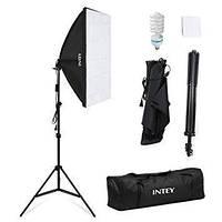 Комплект света INTEY NY-P01 (софтбокс 50 x 70 см, стойка, лампа - сумка для переноски)