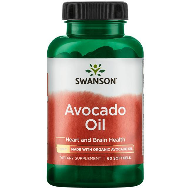 Swanson Масло авокадо органічне, 60 капсул