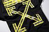 Футболка Off white чёрная (офф вайт с жёлтыми стрелками мужская женская), фото 9