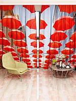 Фотоштора Walldeco Красные зонты (26501_1_3)