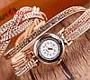 Женские наручные часы-браслет со стразами Crystal Gold
