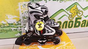 Ролики детские RollerBlade Spitfire S размер 28-32 черный / серый