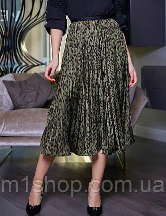 Женская легкая плиссированная юбка-миди (3394-3396 svt), фото 2
