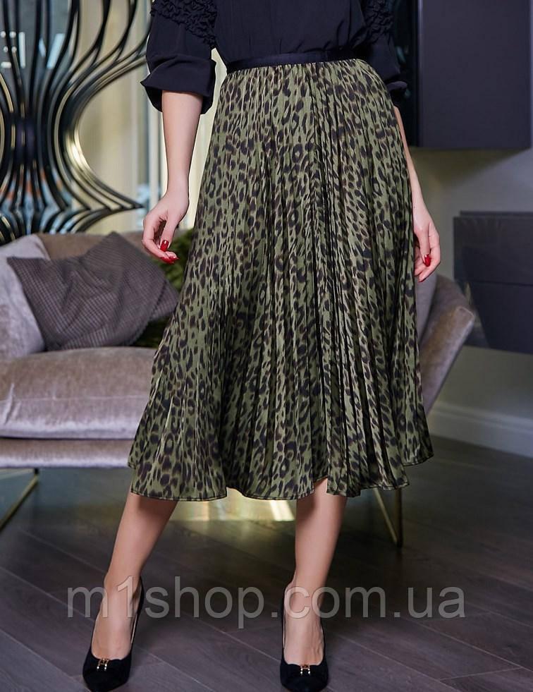 Женская легкая плиссированная юбка-миди (3394-3396 svt)