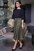 Женская легкая плиссированная юбка-миди (3394-3396 svt), фото 3