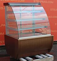 Холодильная витрина кондитерская «IGLOO Jamajka 0.9W» 1 м. (Польша), обшивка с дерева, Б/у, фото 1