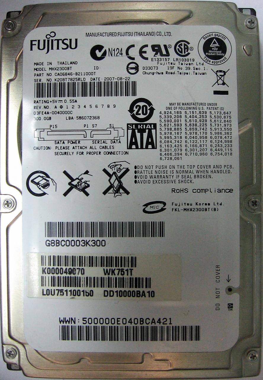HDD 300GB 4200rpm 8MB SATA 2.5 12.5mm Fujitsu MHX2300BT K208T7825RL0