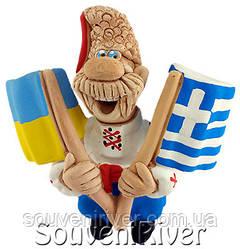 """Сувенирный магнит """"Украина - Греция"""""""