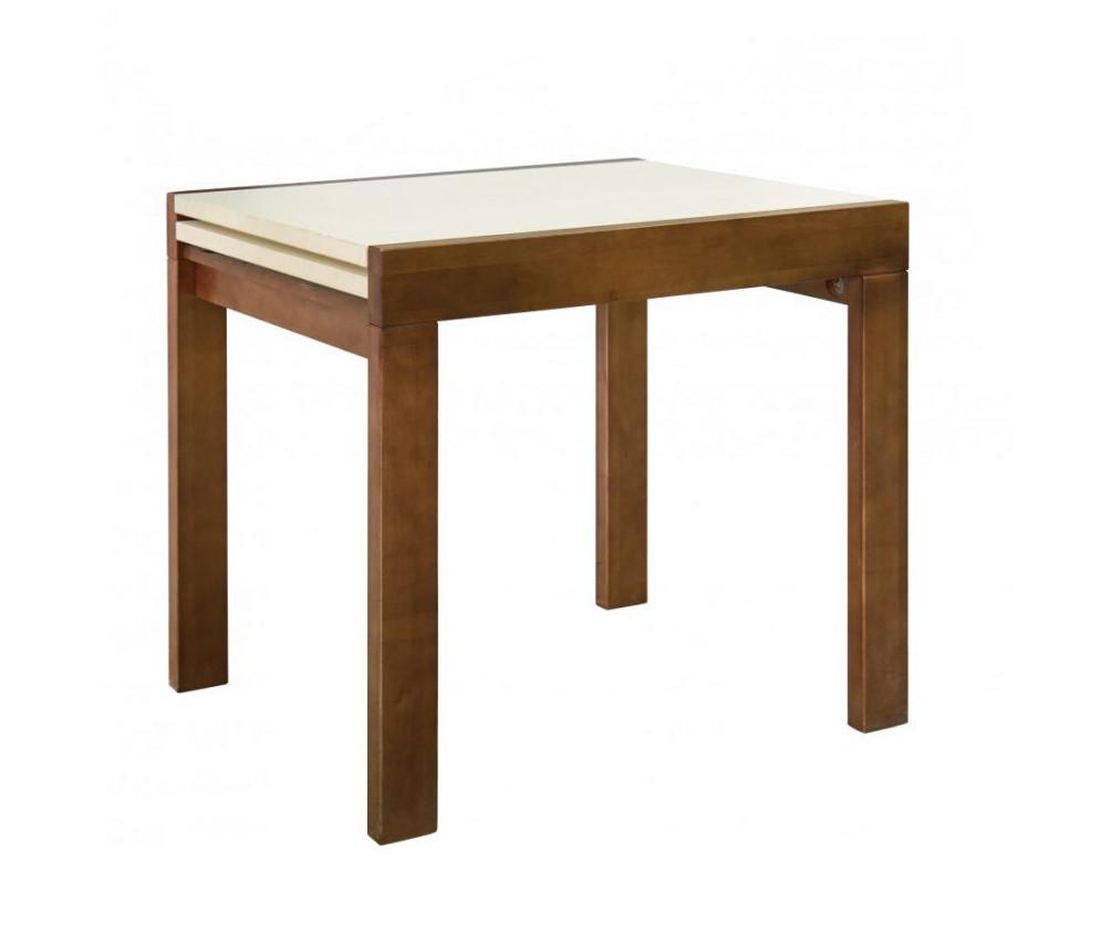 """Кухонний розкладний стіл """"Твіст"""" (горіх\ваніль) 82*67см"""