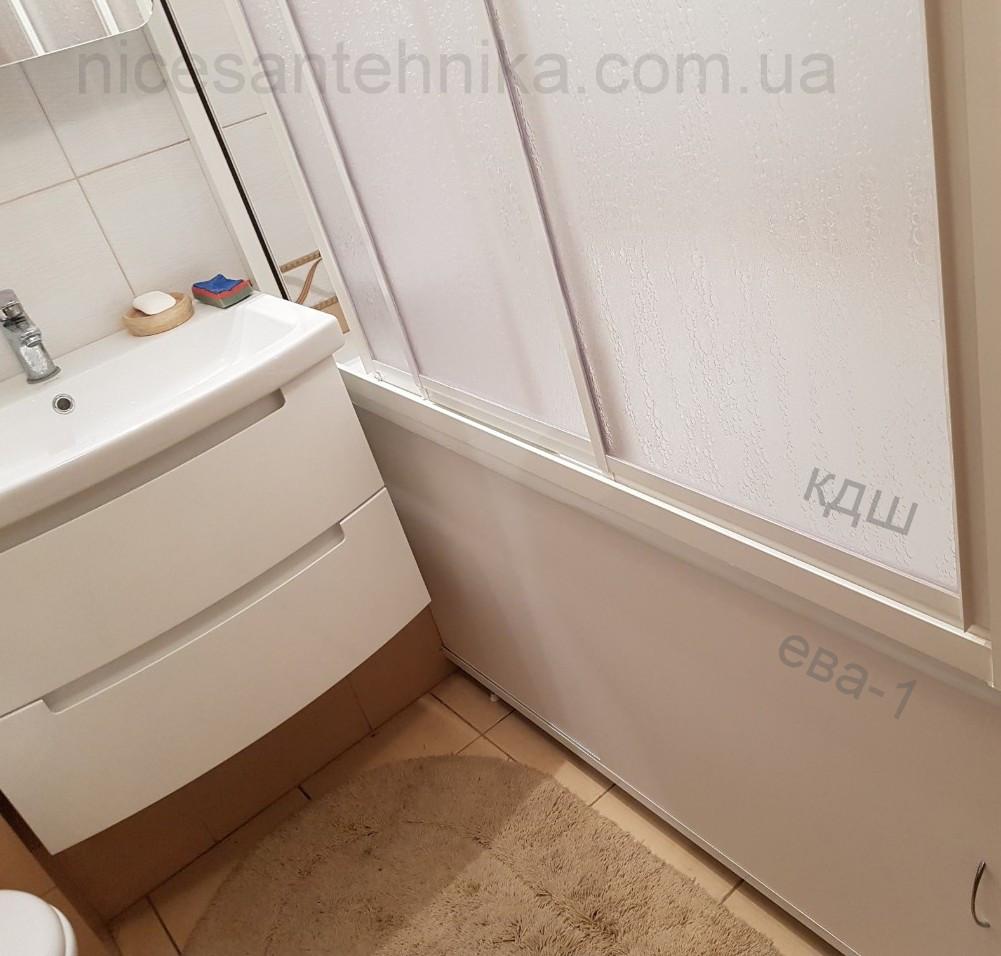 Душевые двери на ванну 3 секции раздвижная 120*140 см.