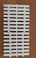 Переливная решётка Bridge, PPS, ширина - 199 мм, высота - 24 мм, цвет - тёплый белый. Тройное соединение.