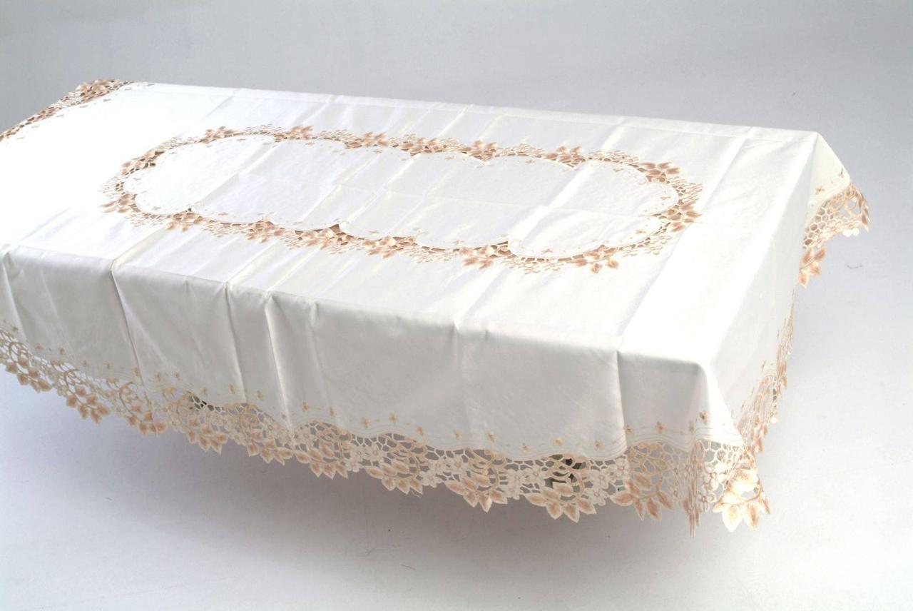 Скатерть на овальный  стол160*240 веточка