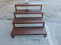 Лестница металлическая, 4 ступеньки, фото 1