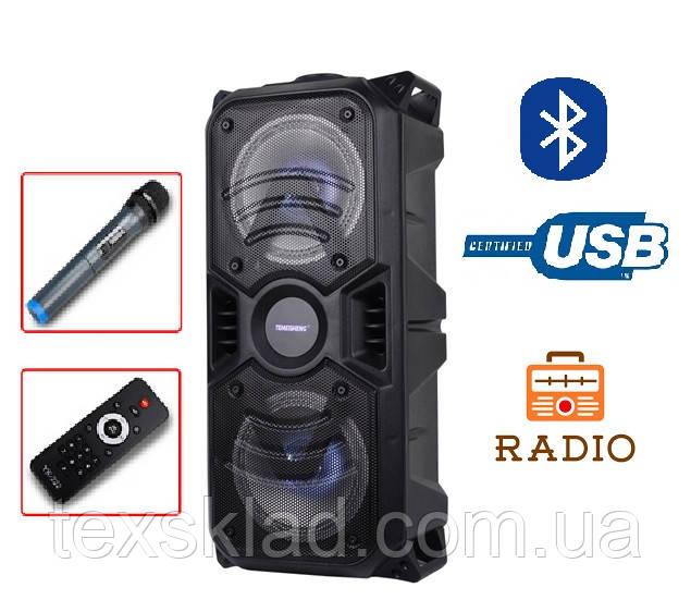 Портативная колонка с микрофоном TMS-601 / 50W (USB/FM/Bluetooth)