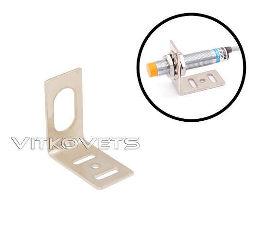 Кронштейн для крепления цилиндрического датчика с резьбой М12 (угловой), фото 2