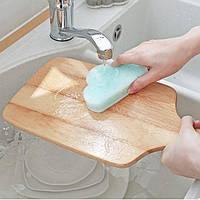 Губка для мытья посуды Облако Голубая
